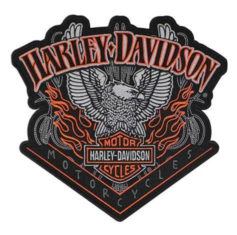 harley davidson patches harley davidson eagle patch pinstripes embroidered emblem org black em118304 ebay