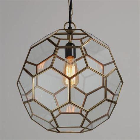 honeycomb shape glass pendant