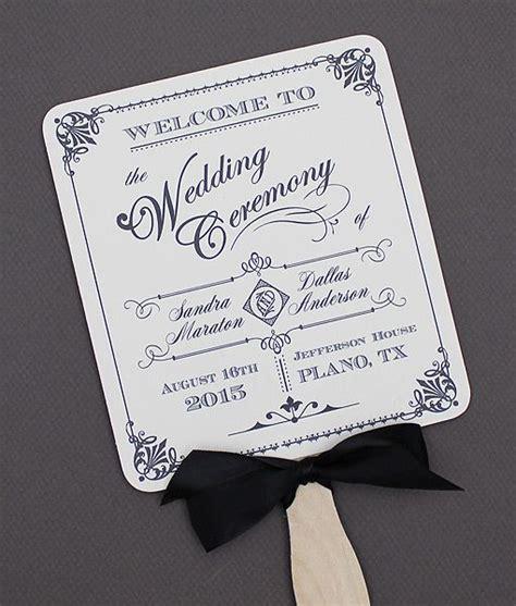 diy wedding program fans template diy ornate vintage paddle fan wedding program template