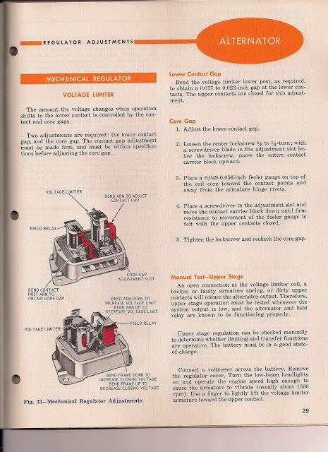 the care and feeding of ponies voltage regulator adjustment 1965 1966 mustang