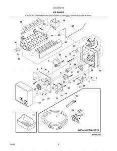 Ice Maker Diagram  U0026 Parts List For Model 25326092100
