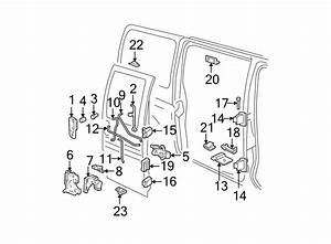 Chevrolet Express 3500 Door Hinge  Side  Upper  Front