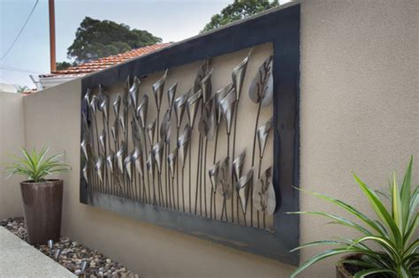 wall ideas design lilly outdoor wall metal