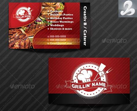 grillers catering business card templates