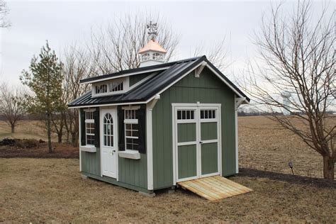 garden shed  double transom dormer