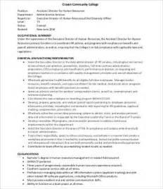 Hr Assistant Descriptions Duties by Human Resources Assistant Description 9 Free Word Pdf Documents Free Premium