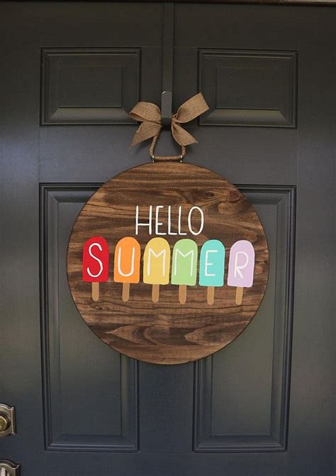 summer door hanger door hanger spring door hanger front