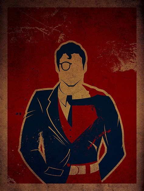 7 Vintage Style Illustrations: Superheroes & Their Alter ...
