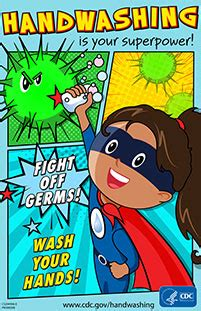 Hand Washing Hygiene Poster CDC