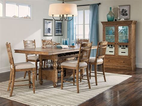 lake house gathering island set  spindle chairs intercon