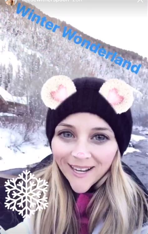 reese witherspoon shares wintery photo  husband jim
