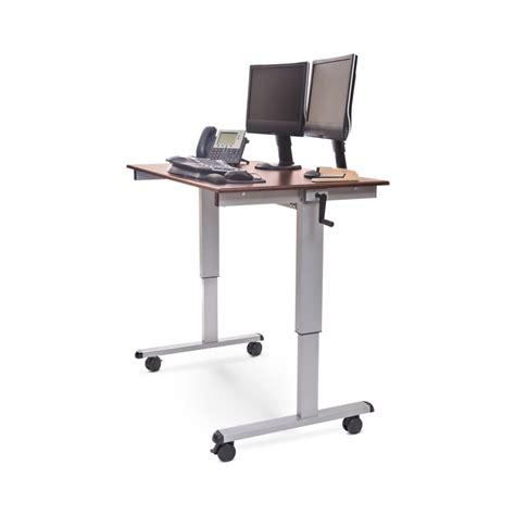crank standing desk luxor standup cf48 dw 48 quot crank adjustable stand up desk