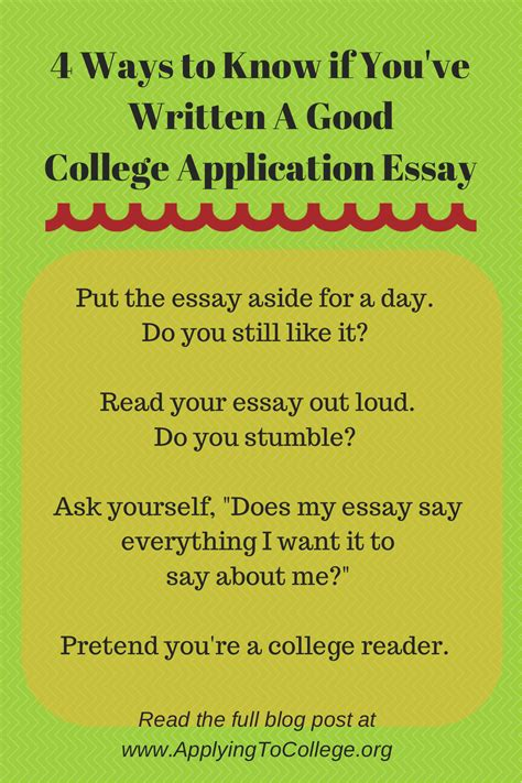 writing a good college application essay 4 ways to know if you ve written a good college essay