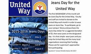 September 2 Jeans Day for the United Way - Faculty u0026 Staff
