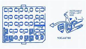Chevrolet Corsica 1995 Left Fuse Box  Block Circuit Breaker Diagram
