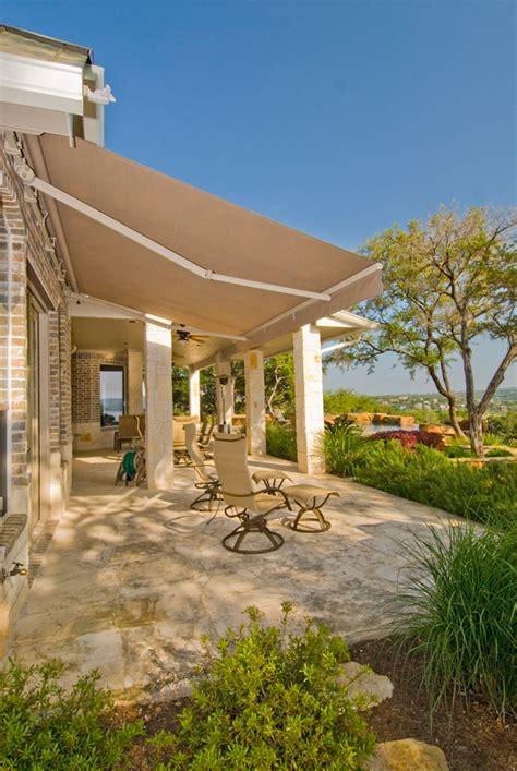 retractable patio awnings texas sun shade