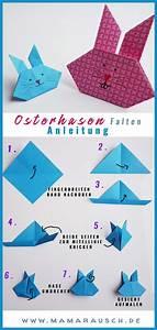 Origami Osterhase Faltanleitung Einfach : 3 verschiedene osterhasen basteln mit papier ~ Watch28wear.com Haus und Dekorationen