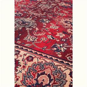 Tapis persan rouge old bid style oriental par drawer for Tapis rouge avec canapé 145 cm