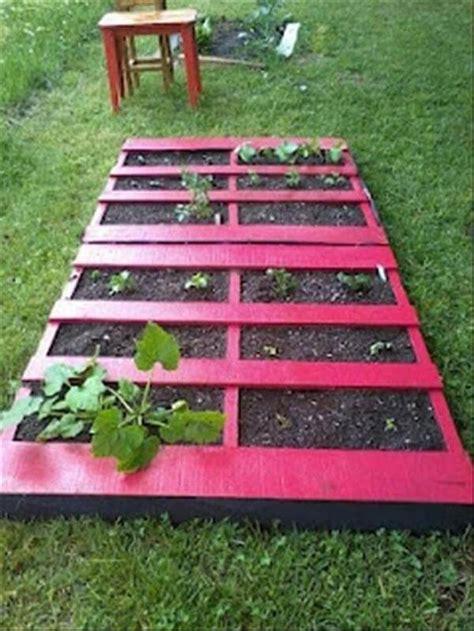 pallet garden bed diy pallet gardens 20 creative ways to use pallets 99