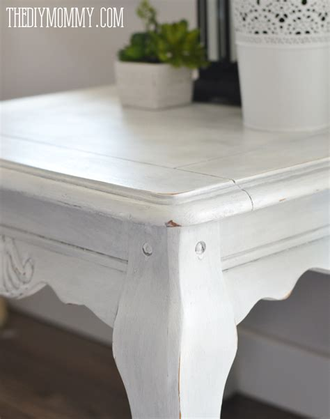 how to paint shabby chic table make diy dark or coloured wax my upcycled side table the diy mommy