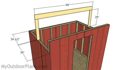 Saltbox Shed Plans 6x8 by Portable 6x8 Saltbox Shed Plans Myoutdoorplans Free