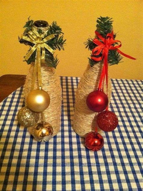 decoraci 243 n navide 241 a con botellas de vidrio dale detalles