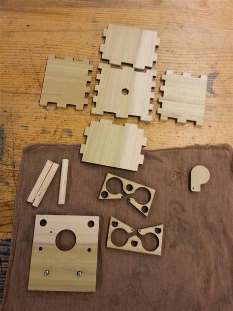 building  beautiful wooden anamorphic pinhole camera