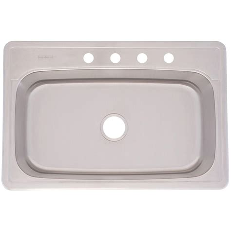 franke sink home depot franke drop in stainless steel 33x22x8 4 single basin