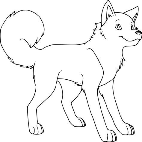 coloriage husky dessin 224 imprimer sur coloriages info