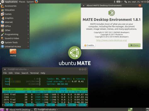 ubuntu bureau ubuntu installer le bureau mate memo linux com