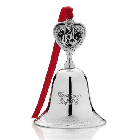2016 bells on christmas wallace silver grande baroque bell 2016 christmas bell ornament