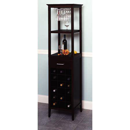 winsome  bottle espresso wine tower  glass holder