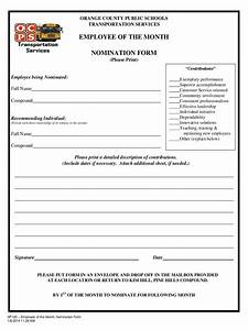 Employee of the month nomination form 5 free templates for Employee of the month nomination form template