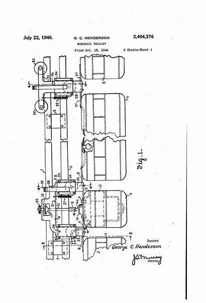 Monorail Patents Patent Google Drawing Trolley