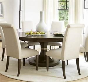 California, Rustic, Oak, 7, Piece, Round, Dining, Room, Set