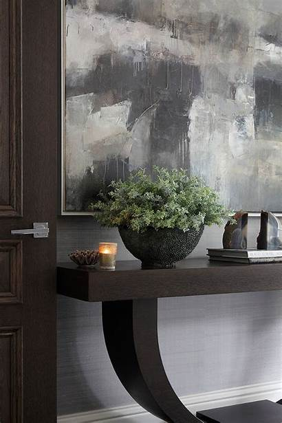 Table Console Foyer Grey Wood Brown Interior