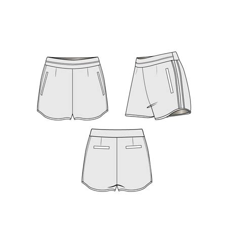 shorts template s tailored sport fashion flat template illustrator stuff