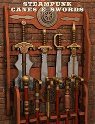 Steampunk Sword Cane