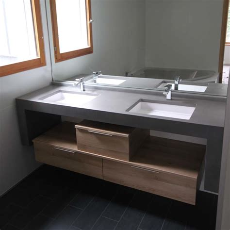 creer meuble salle de bain indogate salle de bain beton cire et bois