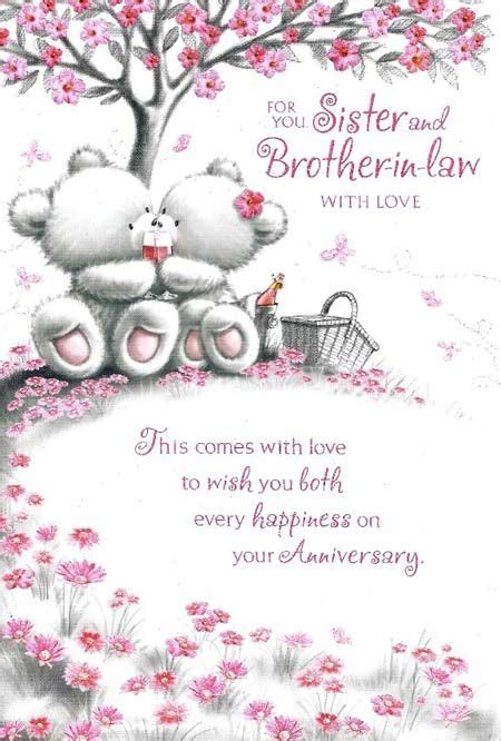 happy anniversary   sister  bother  law   sister  bother  law  love