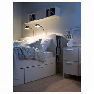BRIMNES Tte De Lit Avec Rangement Blanc 140 Cm IKEA