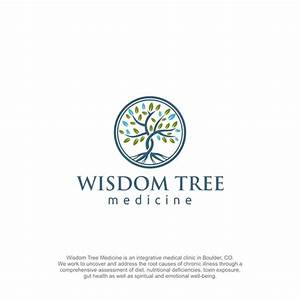 Design a modern organic tree logo for holistic medicine ...