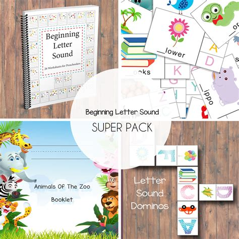 beginning letter sound super pack  beautiful home