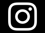 Black and white instagram Logos