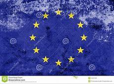 Grunge European Union Flag Royalty Free Stock Image