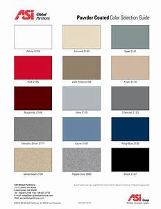Asi powder coated color selection guide asi global for Asi construction documents