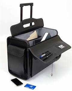 19quot rolling catalog pilot case wheeled briefcase sample for Rolling document case