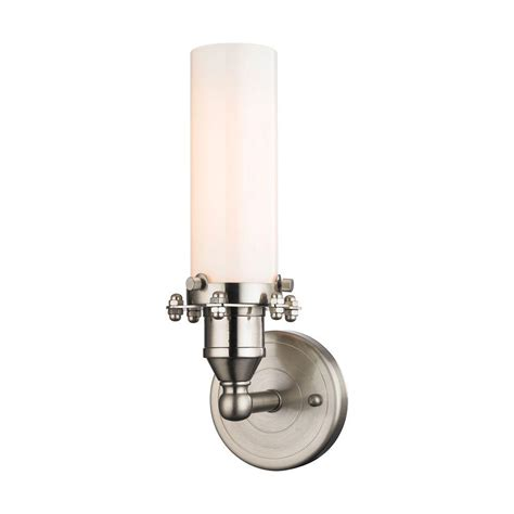 hton bay 1 light brushed nickel wall sconce 05379 the