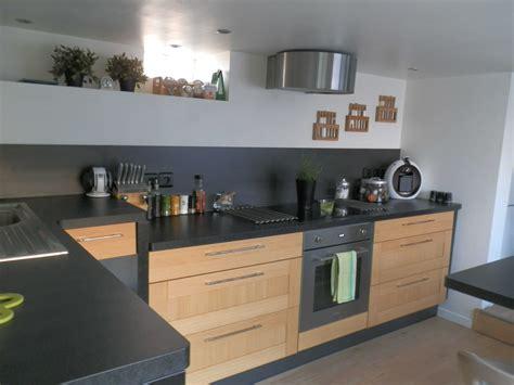 cuisine ikea blanche et bois cuisine et bois photo impressionnant blanche design
