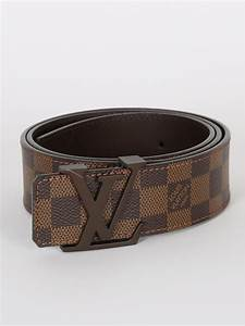 Louis Vuitton - LV Initiales Damier Ebene Canvas Belt 85 ...